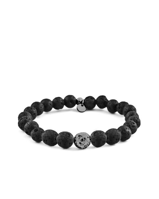 Tateossian - Black Asteroid Lava Bead Bracelet for Men - Lyst