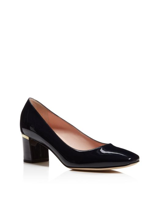 Kate Spade - Blue Dolores Too Patent Leather Mid Heel Pumps - Lyst