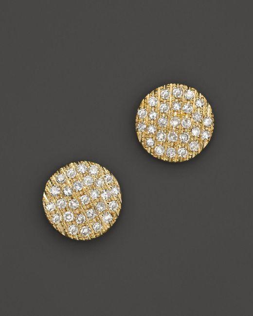 Dana Rebecca   14k Yellow Gold Diamond Lauren Joy Medium Earrings   Lyst