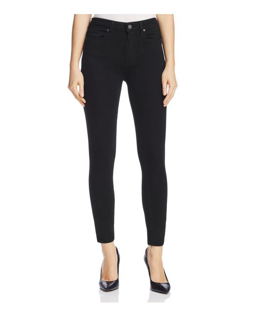 PAIGE - Hoxton Ankle Skinny Jeans In Black Shadow - Lyst