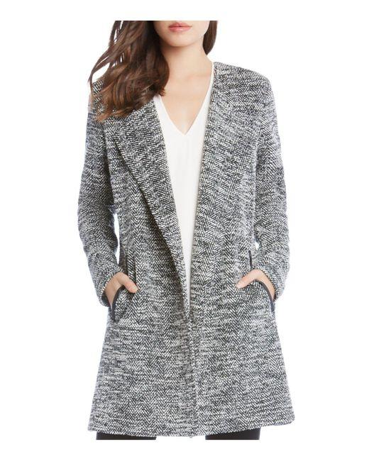 Karen Kane | Black Chevron Tweed Jacket | Lyst