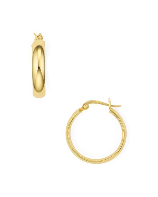 Argento Vivo - Metallic Click Top Hoop Earrings - Lyst