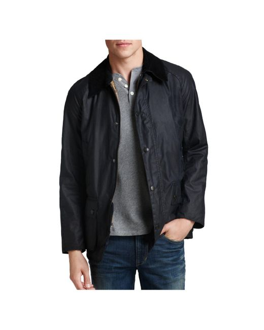 Barbour - Blue Ashby Tailored Waxed Cotton Coat for Men - Lyst