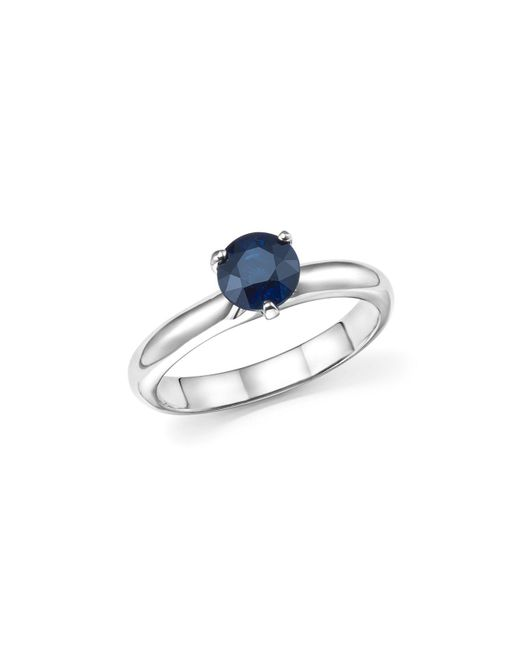 Roberto Coin | Blue Platinum Prong Set Sapphire Ring | Lyst