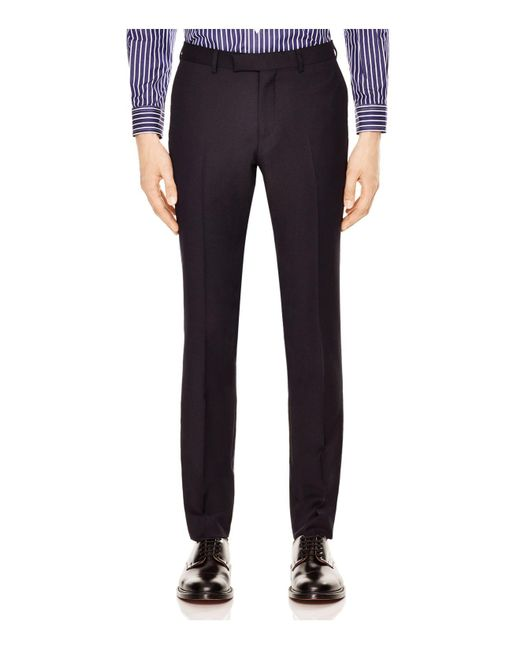 Sandro | Blue Notch Pique Slim Fit Trousers for Men | Lyst
