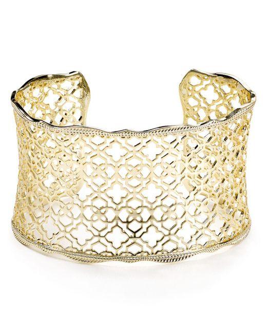 Kendra Scott - Metallic Candice Cuff Bracelet - Lyst