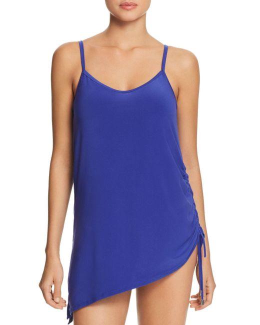 Magicsuitr - Blue Solid Brynn Swim Dress - Lyst