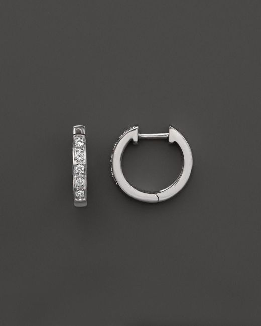 KC Designs - Diamond Mini Hoops In 14k White Gold - Lyst