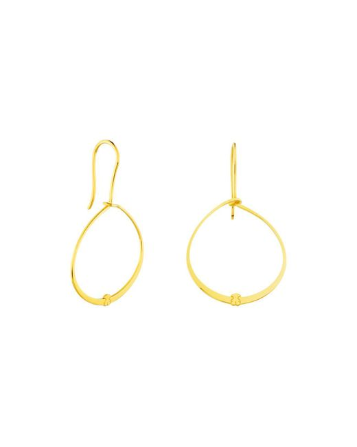 Tous | Metallic Hoop Drop Earrings | Lyst
