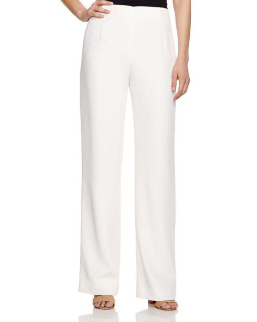 Lafayette 148 New York - White Studio Wide Leg Pants - Lyst