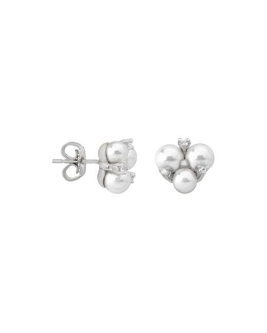 Majorica | Multicolor Simulated Pearl Cluster Earrings | Lyst