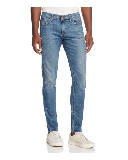 J Brand - Tyler Slim Fit Jeans In Umbra Medium Blue for Men - Lyst