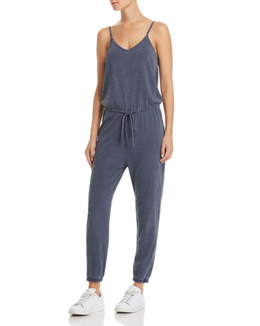 Sundry - Blue Drawstring Jumpsuit - Lyst