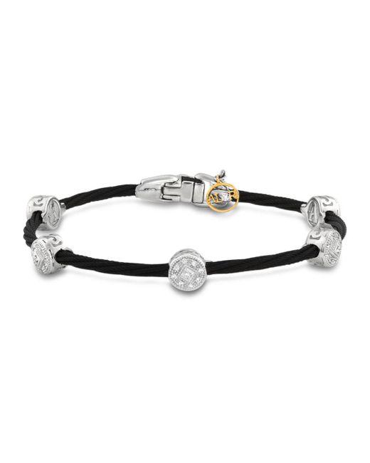 Alor - Diamond Stud Black Cable Bangle - Lyst