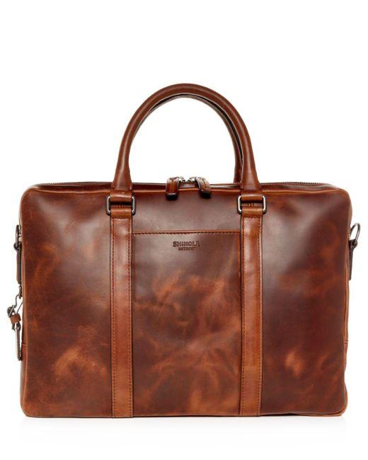 Shinola - Brown Navigator Leather Computer Briefcase for Men - Lyst