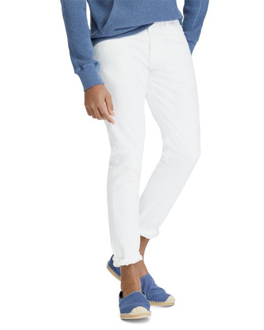1ceee5e59 Polo Ralph Lauren - White Sullivan Slim Stretch Jeans for Men - Lyst ...