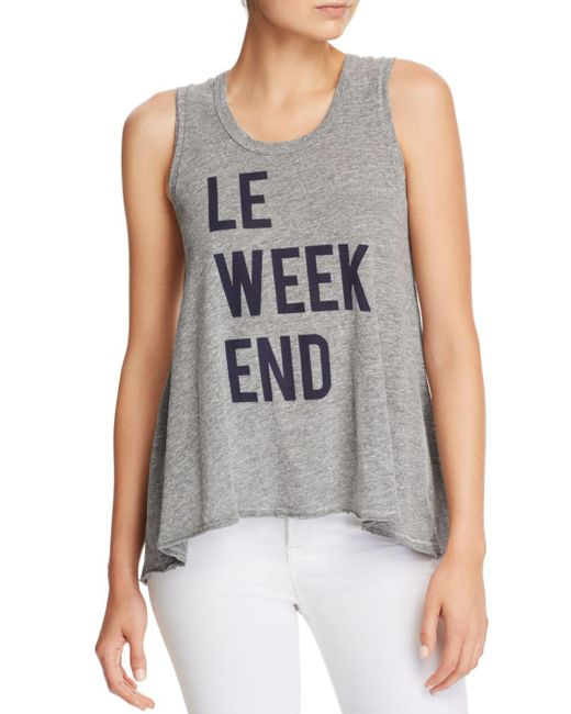 Sundry - Gray Le Weekend Trapeze Tank - Lyst
