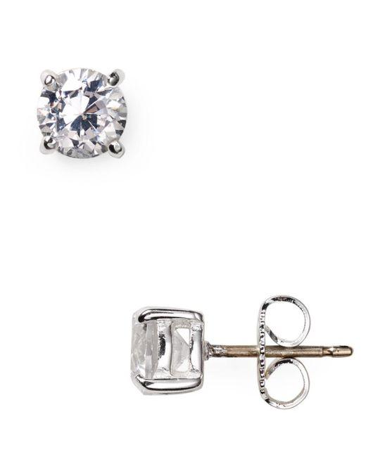 Carolee - Metallic Medium Cubic Zirconia Stud Earrings - Lyst