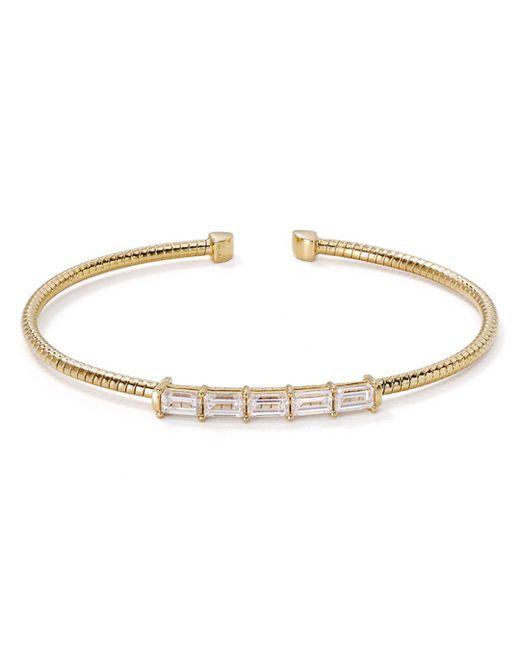 Nadri - Metallic Baguette Open Cuff Bracelet - Lyst