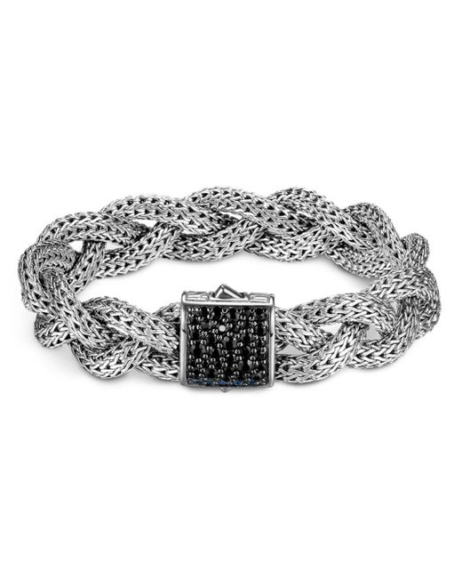 John Hardy - Gray Classic Chain Black Sapphire & Sterling Silver Medium Braided Bracelet - Lyst