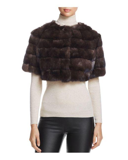 Maximilian | Multicolor Sable Fur Bolero | Lyst