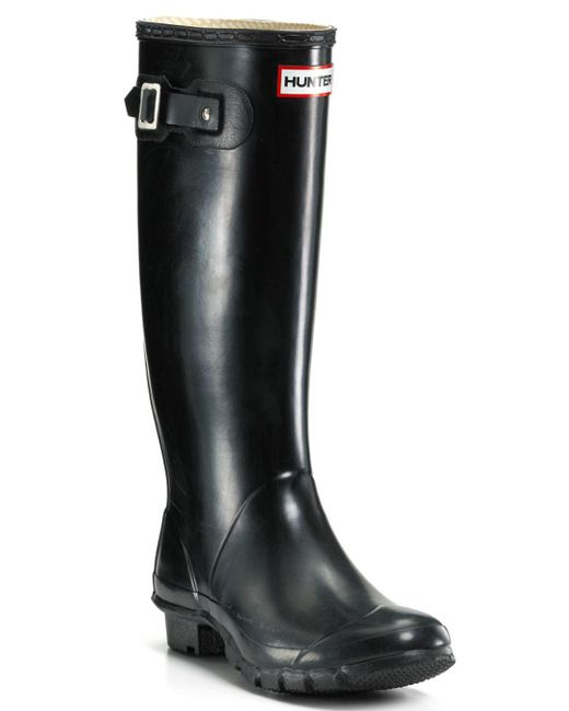 Hunter - Black Huntress Extended Calf Rain Boots - Lyst