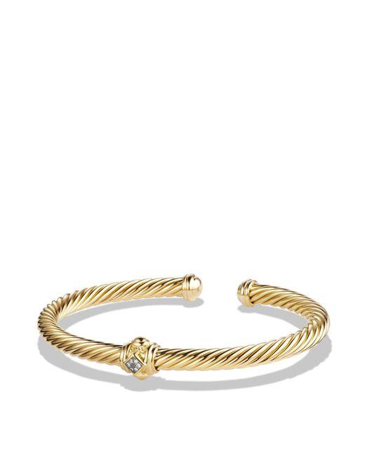 David Yurman - Metallic Renaissance Bracelet With Diamonds In 18k Gold - Lyst