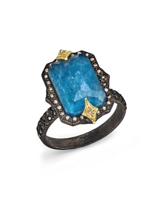 Armenta - Blue White Diamond & Champagne Diamond Ring - Lyst