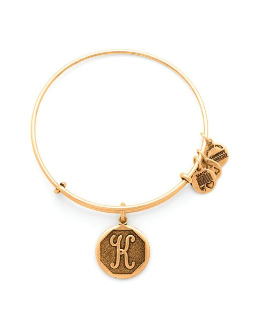 ALEX AND ANI - Metallic Initial Bangle - Lyst