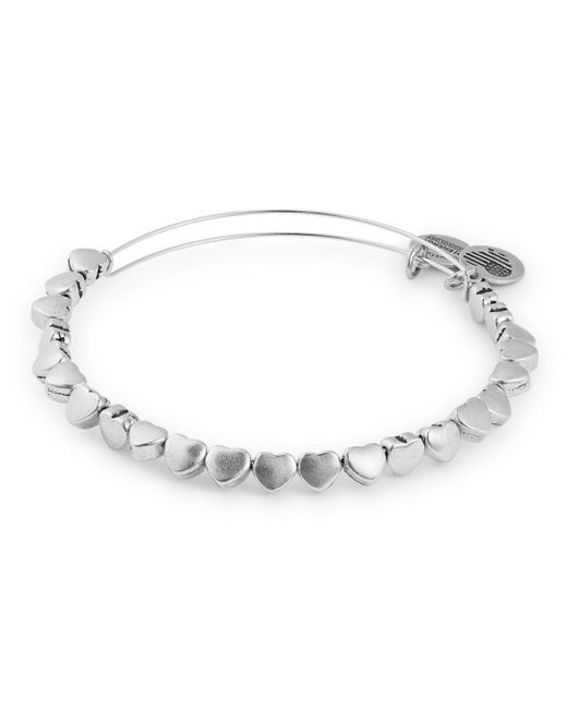 ALEX AND ANI - Metallic Heart Beaded Expandable Wire Bangle - Lyst