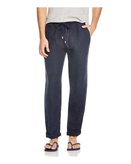 Vilebrequin - Blue Pacha Linen Pants for Men - Lyst