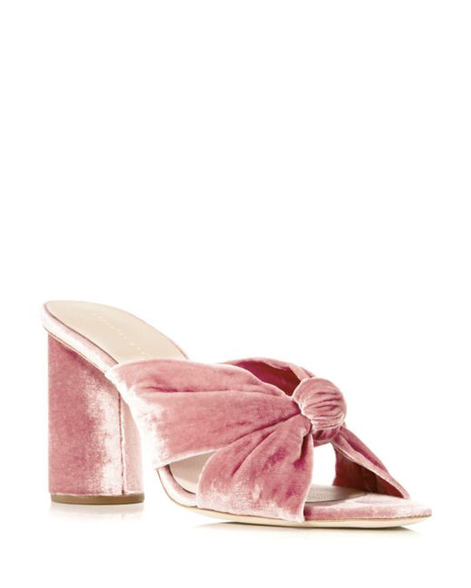 Loeffler Randall - Red Coco Velvet High-heel Slide Sandals - Lyst