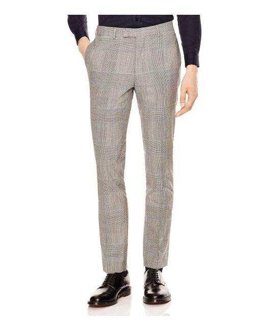 Sandro | Gray Peak Glen Check Slim Fit Trousers for Men | Lyst