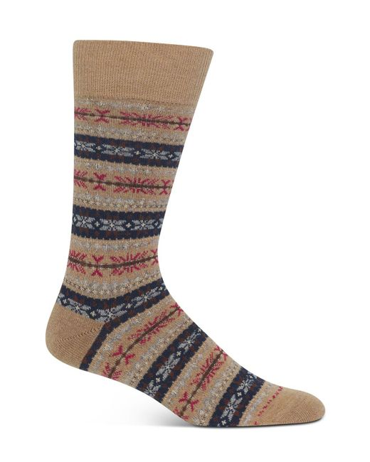 Polo Ralph Lauren | Brown Fairisle Crew Socks for Men | Lyst
