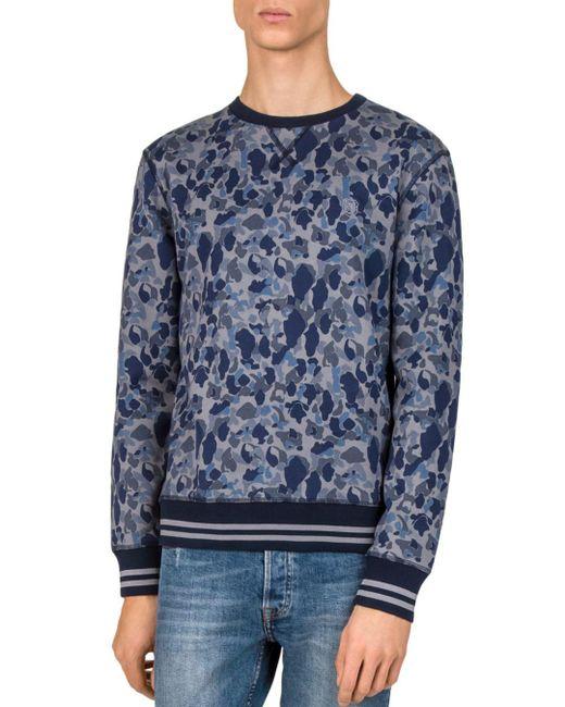 The Kooples - Blue Camo Sweatshirt for Men - Lyst
