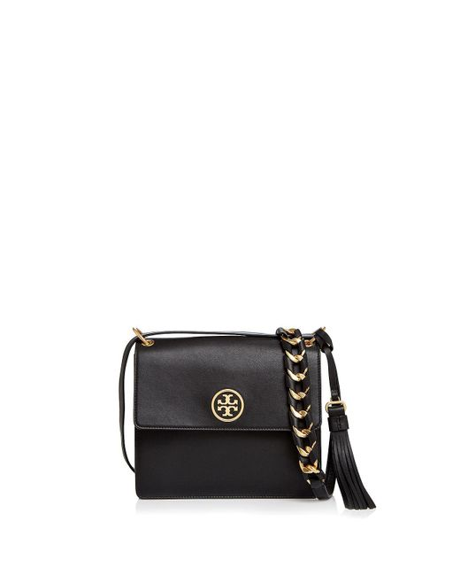 Tory Burch - Black Brooke Leather Crossbody - Lyst