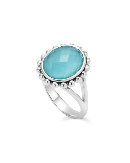 Lagos - Metallic Sterling Silver Maya Escape Turquoise Doublet Ring - Lyst