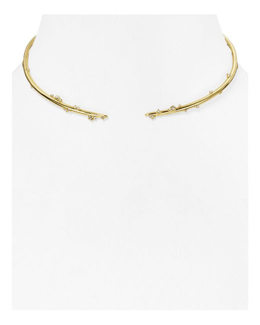 Alexis Bittar | Metallic Satellite Swarovski Crystal Spike Collar Necklace | Lyst