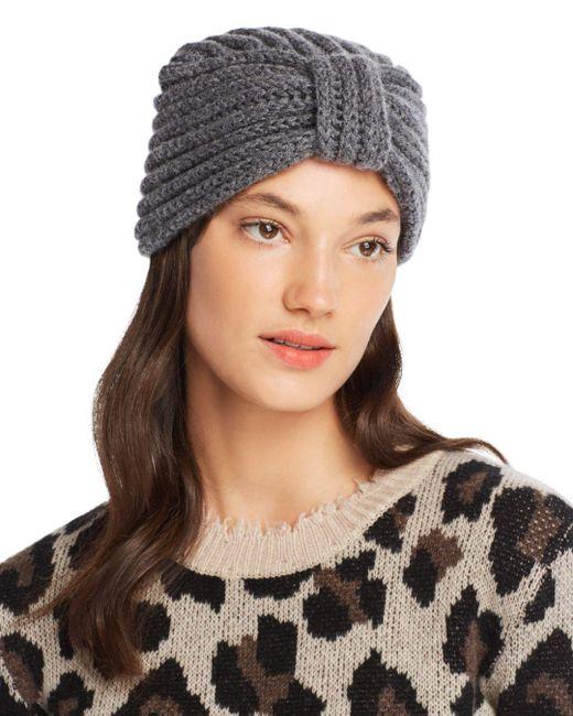 Rosie Sugden - Gray Knit Cashmere Turban Hat - Lyst