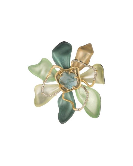 Alexis Bittar - Blue Block Flower Pin - Lyst