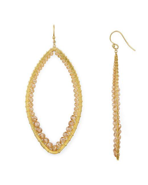 Chan Luu - Metallic Marquise Earrings - Lyst