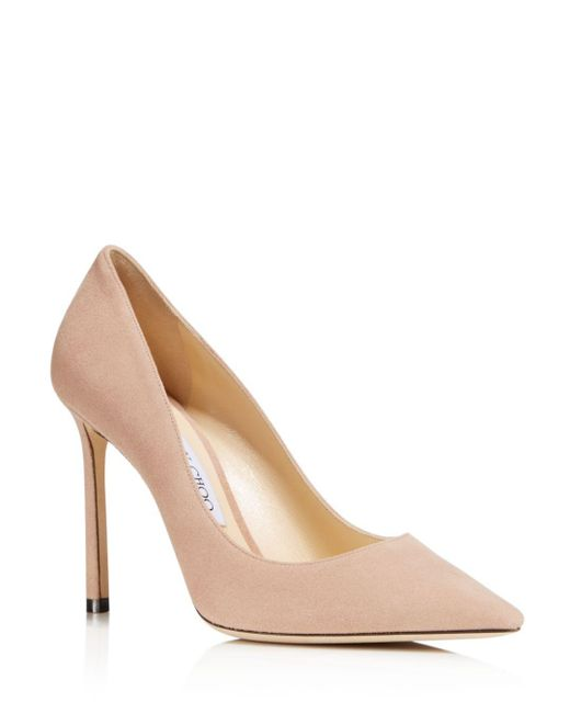 Jimmy Choo - Pink Women's Romy 100 Suede High-heel Pointed Toe Pumps - Lyst