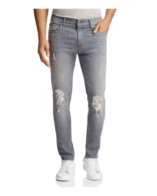 J Brand | Gray Mick Slim Fit Jeans In Covalent for Men | Lyst