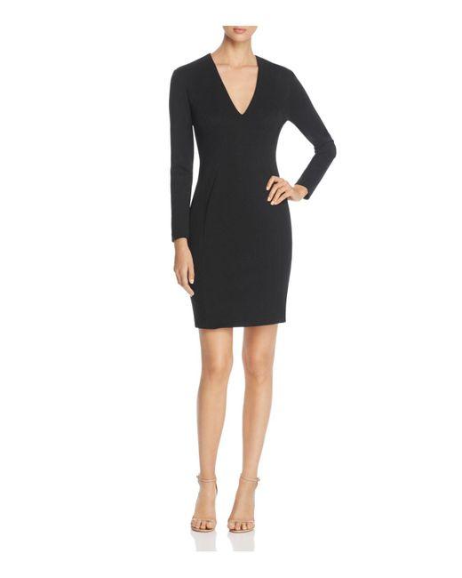 Elie Tahari | Black Prisha V-neck Sheath Dress | Lyst