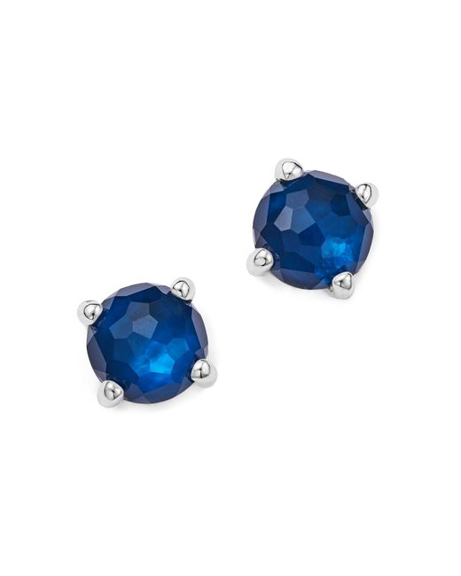 Ippolita - Blue Rock Candy® Mini Stud Earrings In Midnight - Lyst