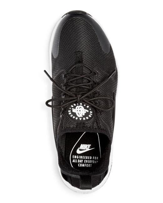 classic fit df264 e1a95 ... size 0380ed 3d796 closeout nike black womens air huarache run ultra  lace up sneakers afce1 8d7e2 ...