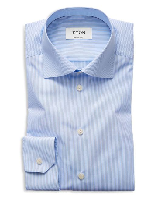 Eton of Sweden - Blue Of Sweden Basic Regular Fit Skinny Bengal Stripe Dress Shirt for Men - Lyst