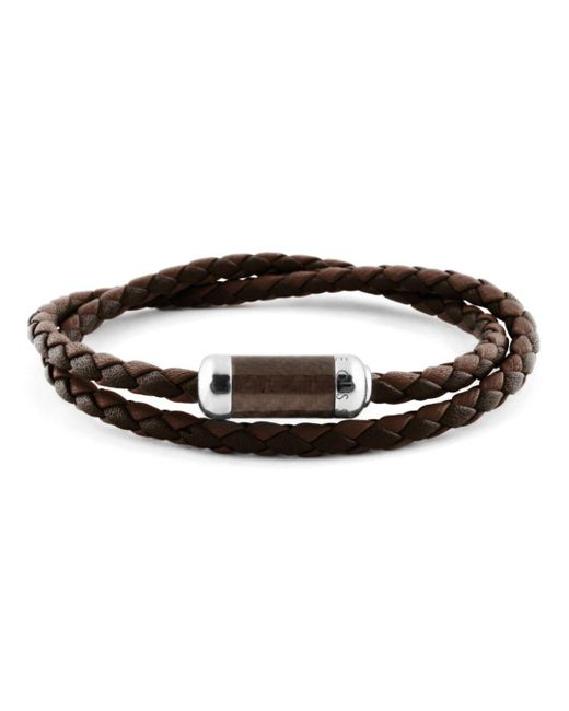 Tateossian - Brown Woven Leather Bracelet for Men - Lyst