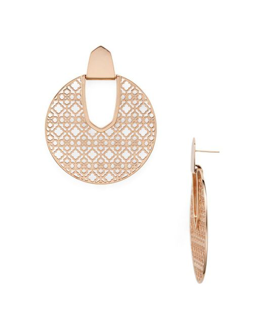Kendra Scott - Metallic Diane Latticework Medallion Drop Earrings - Lyst