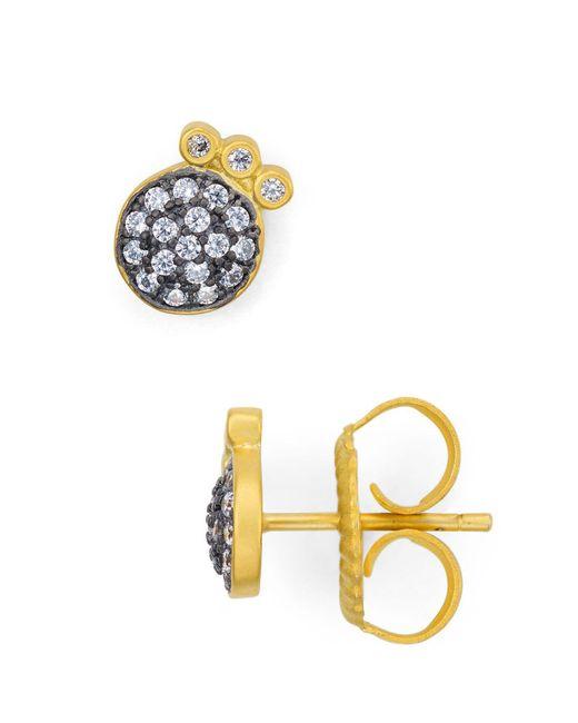 Freida Rothman - Metallic Pavé Stud Earrings - Lyst